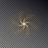 Vettore della polvere di stella di turbinio Fondo di effetto della luce di lustro Fotografie Stock Libere da Diritti