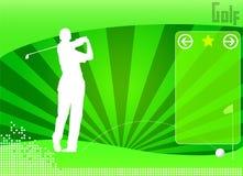 Vettore della priorità bassa di concetto di golf Fotografia Stock