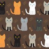 Vettore della raccolta della razza del gatto Immagini Stock