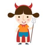 Vettore della ragazza del diavolo di Halloween Immagini Stock Libere da Diritti