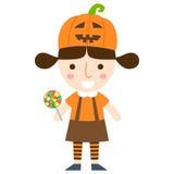 Vettore della ragazza di Halloween Fotografia Stock