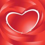 Vettore della scheda del biglietto di S. Valentino Fotografie Stock Libere da Diritti