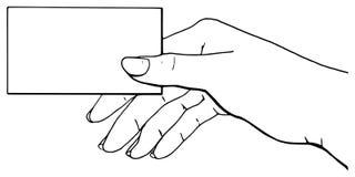 Vettore della scheda della holding della mano Fotografia Stock Libera da Diritti