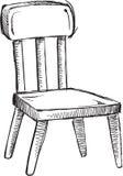 Vettore della sedia di scarabocchio Fotografie Stock Libere da Diritti
