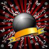 Vettore della sfera lucida nera Immagini Stock