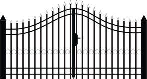 Vettore della siluetta del cancello Immagine Stock