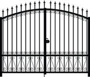 Vettore della siluetta del cancello Fotografia Stock Libera da Diritti