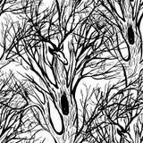 Vettore della siluetta dell'albero e dei cervi cervi isolati illustrazione con i grandi corni Per le cartoline d'auguri, carte da royalty illustrazione gratis