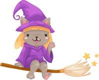 Vettore della strega di Halloween Immagini Stock Libere da Diritti