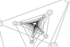 Vettore della struttura della molecola del DNA del tetraedro Immagine Stock