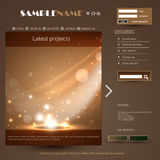 Vettore della struttura di web design Fotografia Stock
