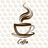 Vettore della tazza di caffè Fotografia Stock