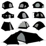 Vettore della tenda di campeggio illustrazione di stock