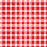 Vettore della tovaglia di picnic del reticolo Immagini Stock