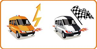 Vettore delle automobili illustrazione vettoriale