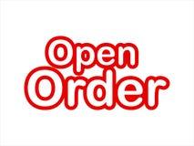 Vettore delle azione di immagine di ordine aperto illustrazione di stock