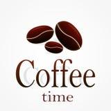 Vettore delle azione di tempo del caffè Immagine Stock Libera da Diritti