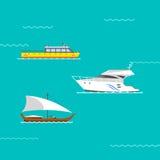 Vettore delle barche e della nave Fotografia Stock