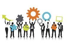 Vettore delle comunicazioni commerciali Team Concept illustrazione vettoriale