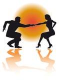 Vettore delle coppie di dancing dell'oscillazione Immagini Stock Libere da Diritti