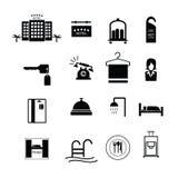 Vettore delle icone del segno dell'hotel Immagine Stock Libera da Diritti