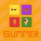 Vettore delle icone di estate Immagini Stock Libere da Diritti