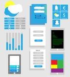 Vettore delle icone di web design Fotografia Stock