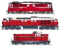 Vettore delle locomotive diesel Fotografia Stock Libera da Diritti