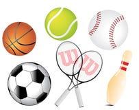 Vettore delle sfere di sport Immagini Stock