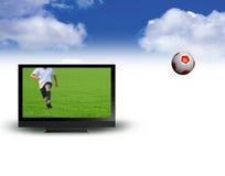 Vettore dello schermo largo TV Fotografia Stock
