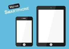 Vettore dello Smart Phone (progettazione piana) su fondo blu (oggetto alta tecnologia) Immagine Stock Libera da Diritti