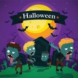 Vettore dello zombie di Halloween Immagini Stock