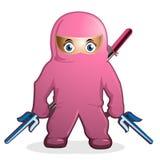 Vettore dentellare del fumetto di ninja Immagine Stock Libera da Diritti