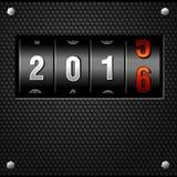 Vettore dettagliato analogico di 2016 nuovi anni un contro Fotografie Stock