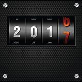 Vettore dettagliato analogico di 2017 nuovi anni un contro Immagini Stock