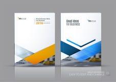 Vettore di affari Disposizione del modello dell'opuscolo, progettazione r annuale della copertura royalty illustrazione gratis