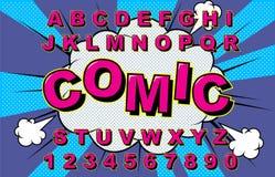 Vettore di alfabeto comico illustrazione vettoriale