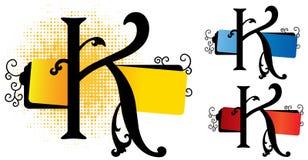 Vettore di alfabeto K Immagini Stock