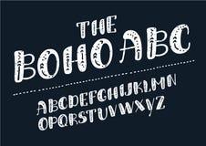 Vettore di alfabeto latino, progettazione di tipografia Insieme delle lettere latine royalty illustrazione gratis