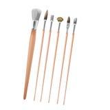 Vettore di Art Paint Brush Collection Set Immagini Stock