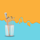 Vettore di Art Painting Brush Design Background Immagine Stock Libera da Diritti