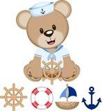 Vettore di Bear Digital Clipart del marinaio Illustrazione Vettoriale