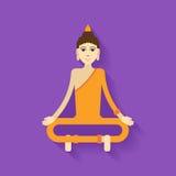 Vettore di Buddha piano Immagine Stock Libera da Diritti