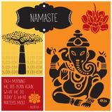 Vettore di buddismo del namaste di Ganesha Fotografia Stock