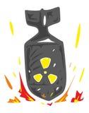 Vettore di caduta della bomba nucleare Immagini Stock Libere da Diritti
