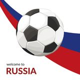 vettore di calcio della bandierina della sfera illustrazione di stock