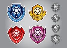 Vettore di calcio di logo dell'emblema Fotografia Stock
