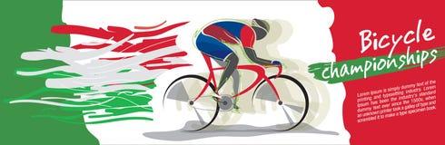 Vettore di campionato della bicicletta Fotografie Stock