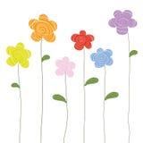 Vettore di colore di scarabocchio dei fiori Immagini Stock Libere da Diritti