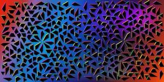 Vettore di colori scuri di piccoli triangoli neri su fondo variopinto Illustrazione di struttura astratta dei triangoli Progettaz Immagini Stock